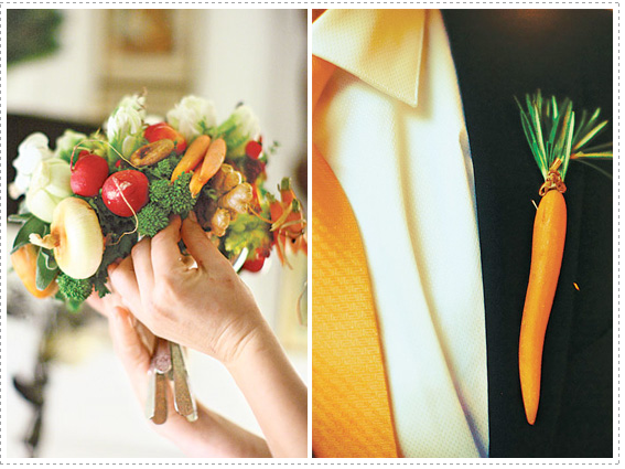Fresh And Exciting Ideas For Entering Your Wedding: Fruits And Vegetable Wedding