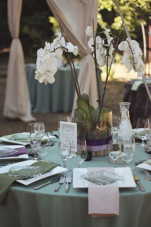 Fern Centerpiece Tied Bow Inspiration