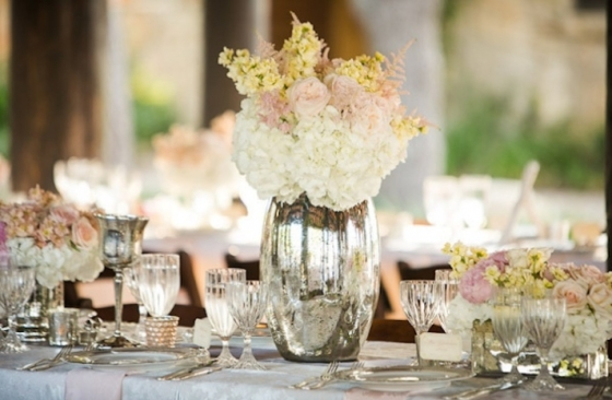 Wedding Trend Mercury Glass And Mirrors Tied Bow
